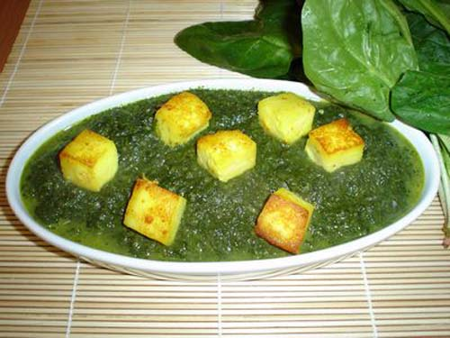 how to cook palak paneer in hindi